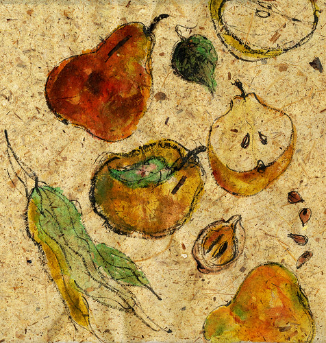 Pears on paper