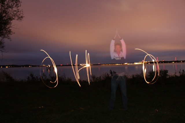 Light Painting O-H-I-O