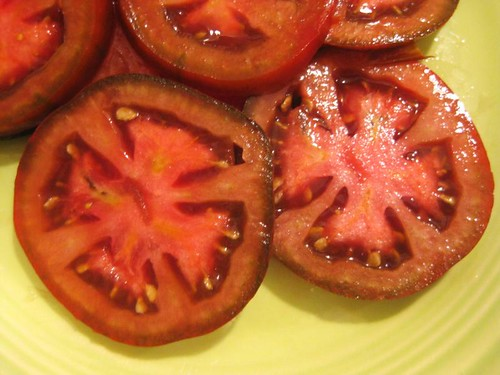 heirloom tomatoes, about to become salad
