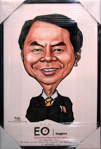 Caricature of Hsieh Fu Hua for EO Singapore
