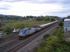 ATK 48 zooms towards the Springwater Trail overpass