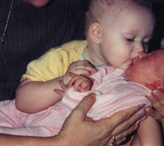 Sissy (74/365) (alyleighcarter) Tags: old family baby film infant kodak young sissy caity