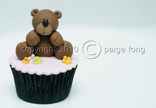 Brown Fondant Bear Cupcake
