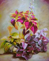 Kleurrijke planten /Colourfull plants (vera LP) Tags: plants art nature painting kunst schilderij oil planten colourfull kleurrijke oilieverf