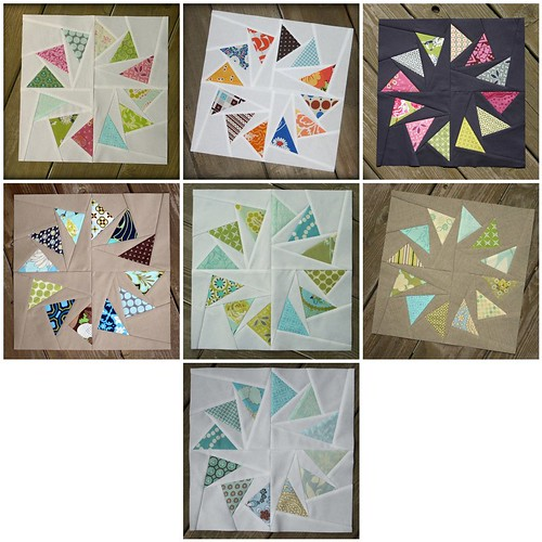 All of my Circle of Geese Blocks - for the Quilting Diva's