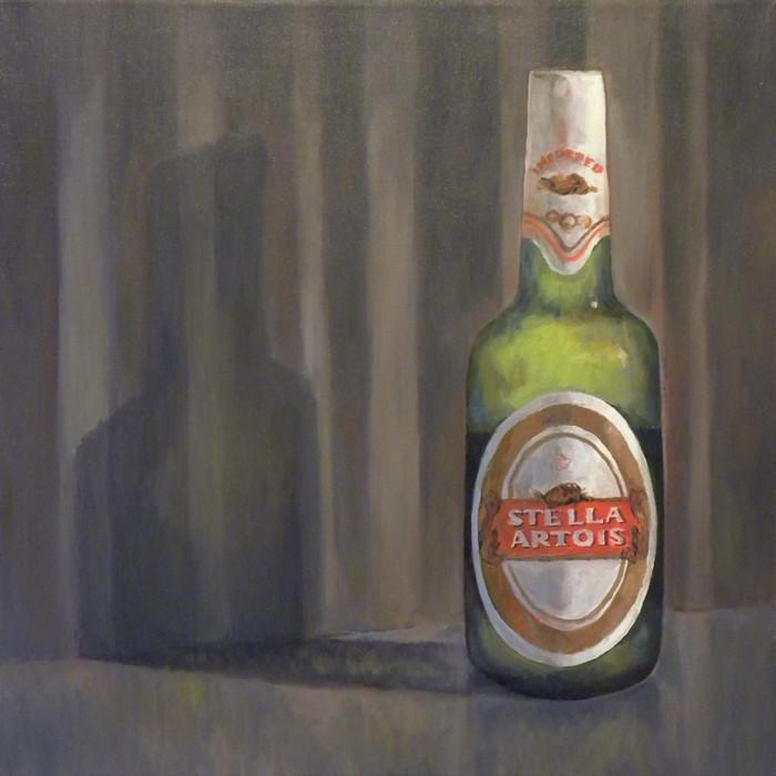 stella artois beer painting