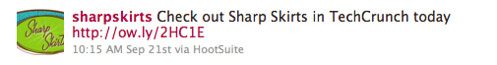 check oiut Sharp Skirts in TechCrunch