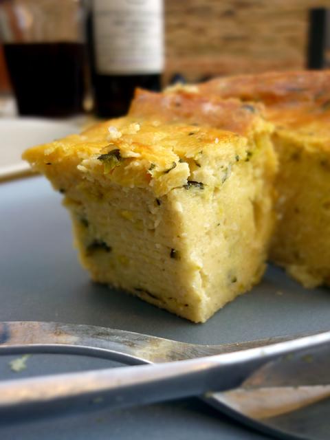 sformato di zucchine e patate {Microbirrificio Conte di Campiglia}