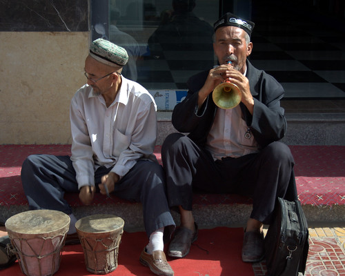 Musicians at Hotan Sunday Market