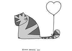 LIKE (Diana Parkhouse) Tags: cat comic kitty sadface