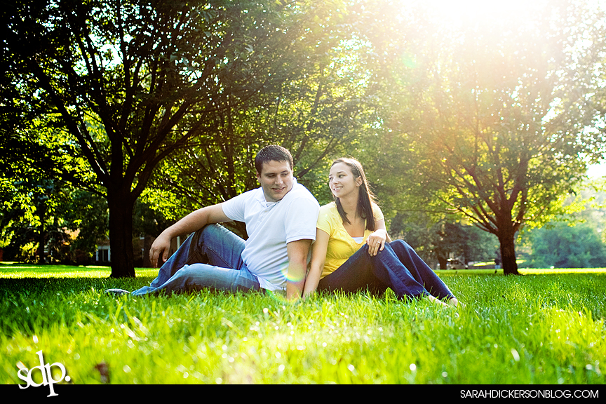 Loose Park Kansas City Missouri engagement photographs
