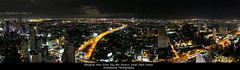 Panorama Bangkok From Sky Bar Sirocco /  (AmpamukA) Tags: city travel light sky panorama tower bar night track view state bangkok 64 thai sirocco       totallythailand ampamuka