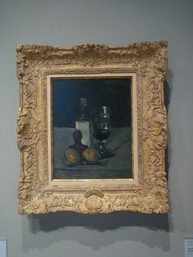 Bouteille, verre, et citrons (Bottle, Glass, and Lemons), c.  1867-69, Paul Cézanne _7733