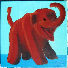 Cute Animal Triptych Baby Mammoth