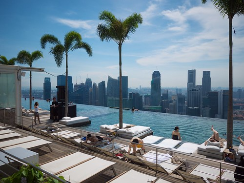 The Marina Bay Sands resort swimming pool