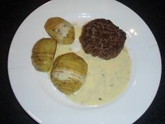 Bearnaise med kartofler og bøf