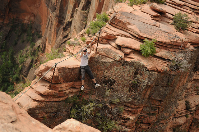 Angels Landing trail in Zion National Park