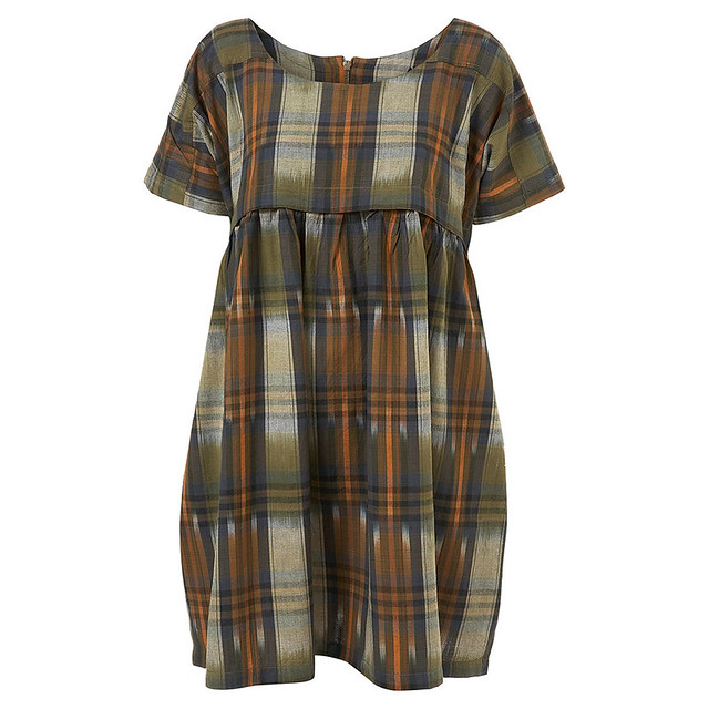 Smudge Check Smock Dress