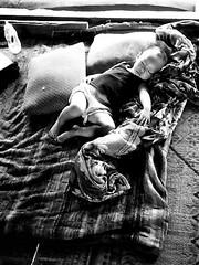 Sleeping baby (QooL / بنت شمس الدين) Tags: qool qoolens travel laos bw m3 lucky shd100 010 baby sleeping blanket pillows