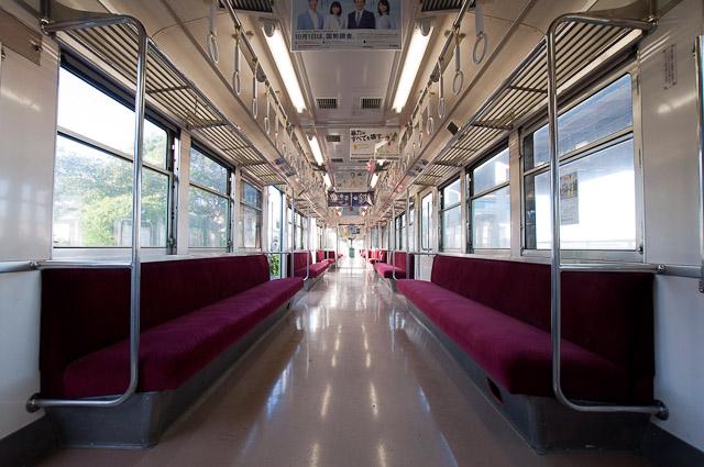 銚子電鉄2000形2001編成 車内