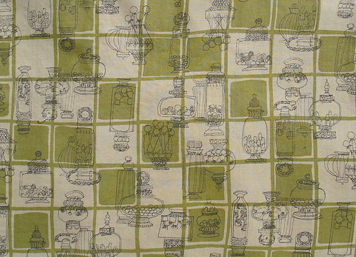 candy fabric on green/khaki plaid