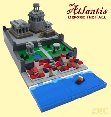 Atlantis before the Fall (2 Much Caffeine) Tags: castle temple ancient lego atlantis moc microscale foitsop