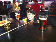 46/366 - @megsdemeanor sitting short at a high table (bunnyhero) Tags: beer project365 thepilot tbq1 torontobeerquest