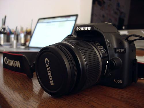 meine nigelnagelneue Canon 500D