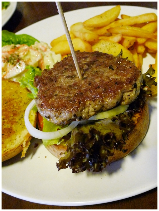 Pure Pork Patty with Mixed Herbs & Thick Fries