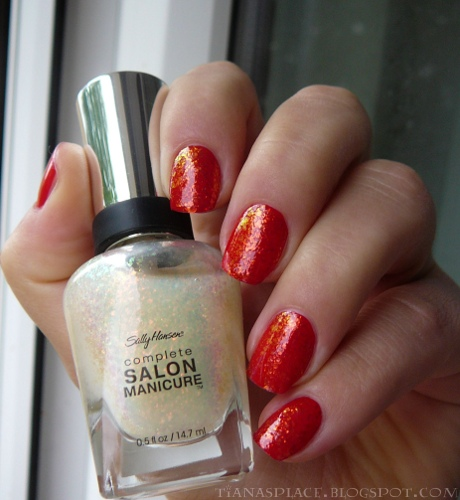 OPI - Color So Hot it Berns + Sally Hansen - Hidden Treasure #4
