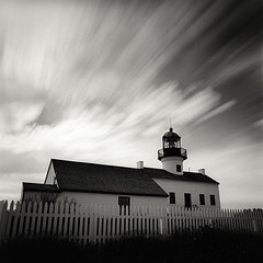 Pharos (Kent Mercurio) Tags: california blackandwhite bw lighthouse 120 6x6 film monochrome mediumformat square sandiego pointloma cabrillonationalmonument kentmercuriocom kentmercurio