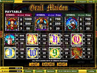 free Grail Maiden slot mini symbol