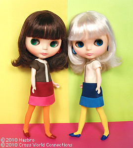 Blythe dolls Simply Vanilla and Simply Chocolate - official photo