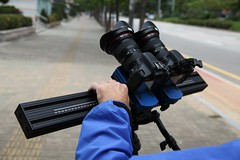 Redrock micro3D rig in Korea production (redrockmicro) Tags: canon 3d stereo 5d redrock redrockmicro stereographer hdslr