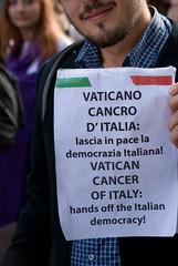 Cancro (Roybatty63) Tags: pope london nikon italia protest vaticano papa londra manifesto citt manifestazione volantino democrazia cancro d80