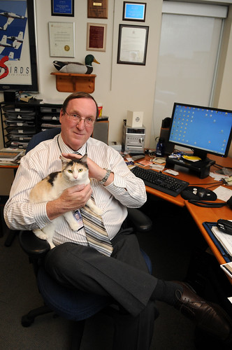 Bill Bruce of Calgary with cat