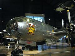 Boeing B-29 Superfortress Bockscar (Little Chubby Panda) Tags: museum aircraft nagasaki noseart atomicbomb nuclearbomb b29 superfortress fatman bockscar nationalmuseumoftheunitedstatesairforce nationalmuseumoftheusaf b29superfortress