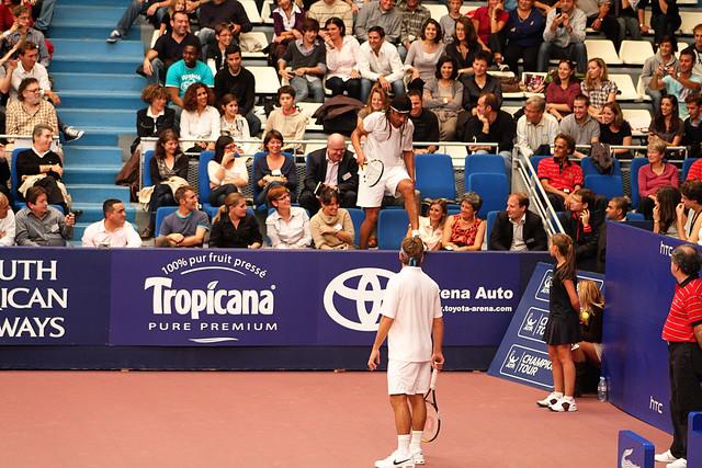 Arnaud Clément and Yannick Noah