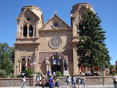 Cathedral Basilica of Saint Francis of Assisi (Santa Fe, New Mexico) (courthouselover) Tags: newmexico santafe cathedrals nm santafetrail santafecounty ushighway84