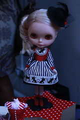 Blythe Dolls owners make a lot of effort in producing creative outfits for their dolls. Guessing cat lover anyone?