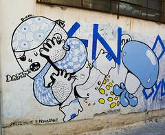 Dreyk the Pirate, Navis & NeF. (server pics) Tags: street city blue urban streetart art wall painting greek graffiti artist nef arte athens greece grecia atenas pirate artists writers writer rua grce pintura grafite athen  griekenland athnes navis athensstreetart dreyk  artedelacalledeatenas serverpics