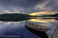 the envy of non anglers (gobayode photography...times) Tags: nature water reflections landscape boat paradise derbyshire peakdistrictnationalpark stillwaters ladybowerreservoir ladybower paradiseonearth naturalcolours ashopton ashoptonbridge derbyshirelandscape englishlakesandreservoires derbyshiresunsets