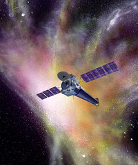 Artists rendering of the Chandra satellite