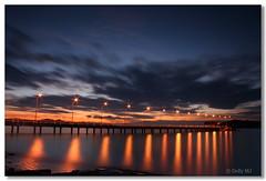 In  Line (Dolly MJ) Tags: sunset sky sun color lights long jetty expose malaysia borneo kotakinabalu redsky sabah kk longexpose beautifulsunset colorfulclouds kotakinabalusunset sabahsunset borneosunset jettyums beautifulkk