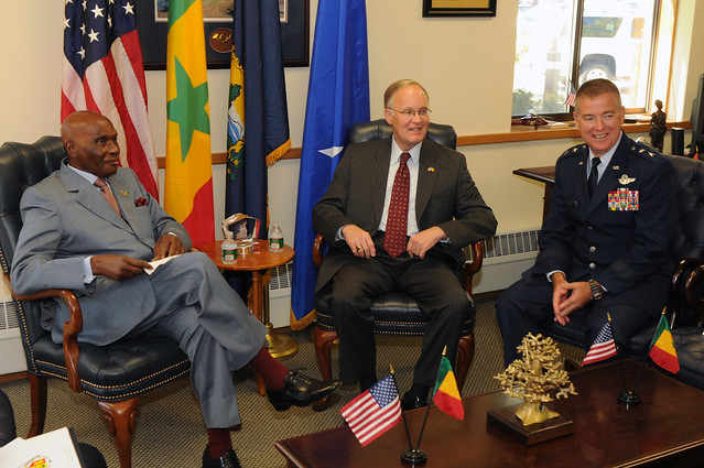 President of Senegal visits Vermont National Guard
