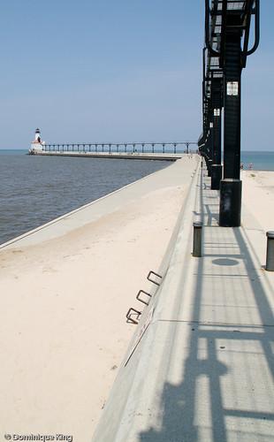 Michigan City Pier Lighthouse Indiana-3