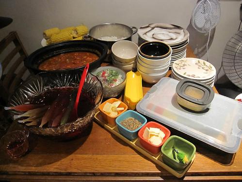 dinner spread