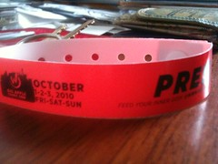 My press wristband for Big Apple Comic-Con 2o1o