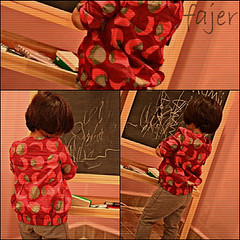 ||     .. (Fajer Alajmi) Tags: red baby girl painting kid paint drawing draw