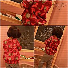 || أنا بنتٍ في طبعي غريبهْ.. (Fajer Alajmi) Tags: red baby girl painting kid paint drawing draw رسم طفلة بيبي بنوته ترسم